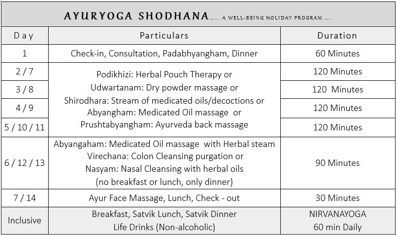 Ayurveda Package 1