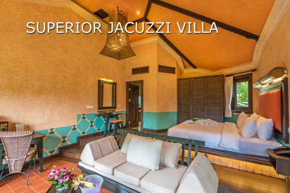 A Superior Jacuzzi Villa at Mangosteen Ayurveda & Wellness Resort, Rawai, Phuket
