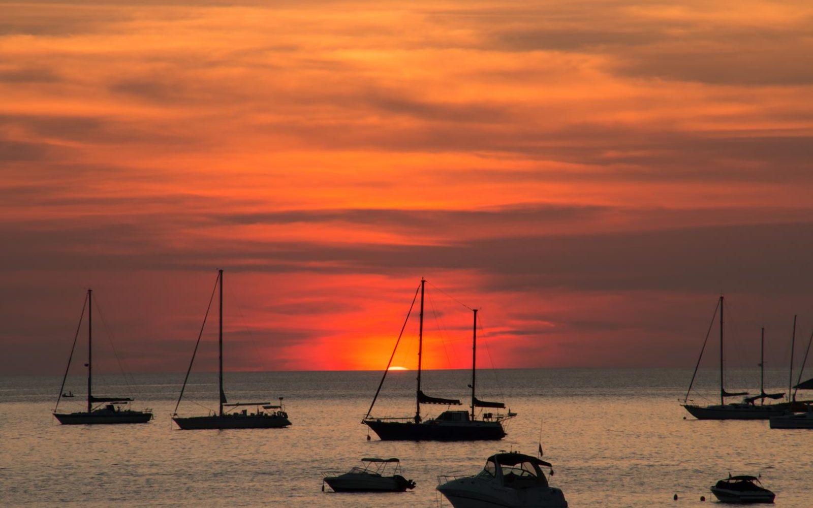 Phuket's famous Nai Harn Beach during Sunset