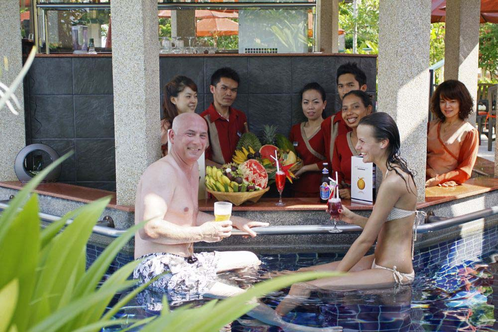 Pool Bar at the Mangosteen Ayurveda & Wellness Resort, Rawai, Phuket