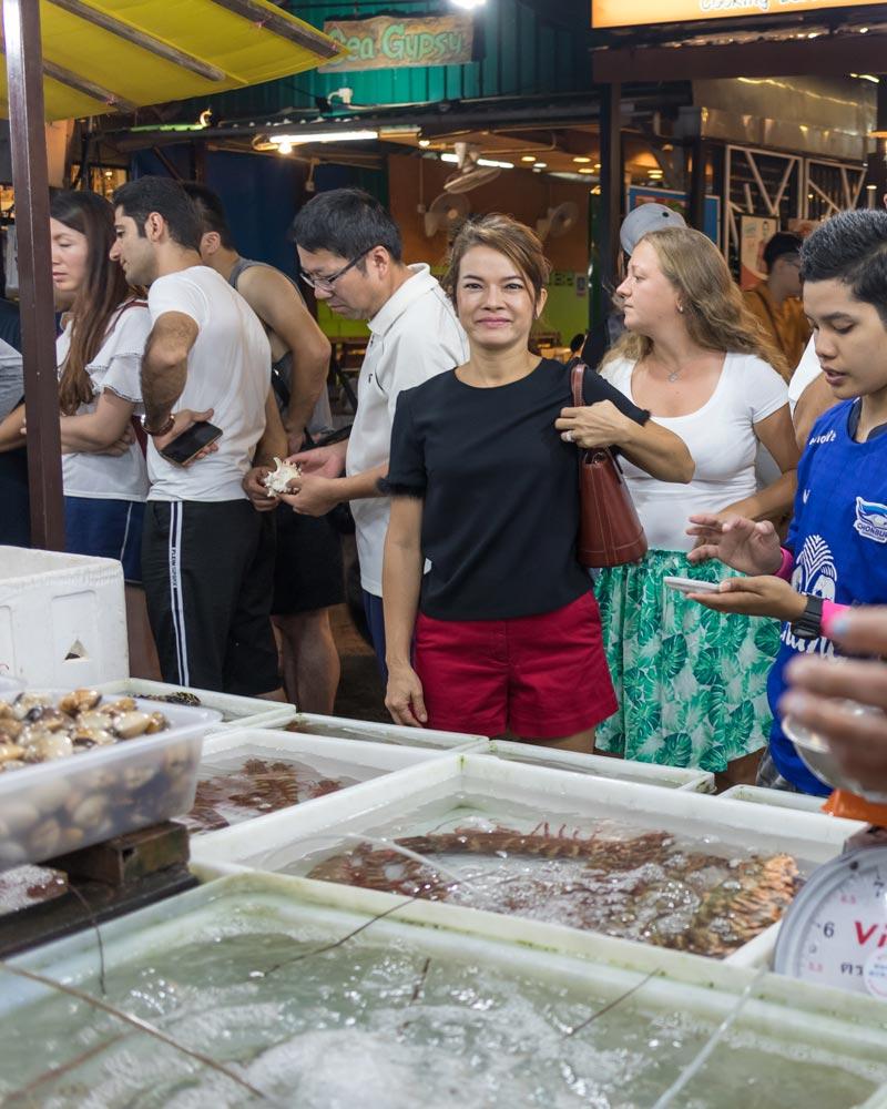 Rawai Seafood Market, Sea Gypsy Village, Ayurveda, Wellness, Yoga Retreats Phuket Thailand, vegetarian, vegan, organic healthy food and drinks at Mangosteen Ayurveda & Wellness Resort, Rawai, Phuket.