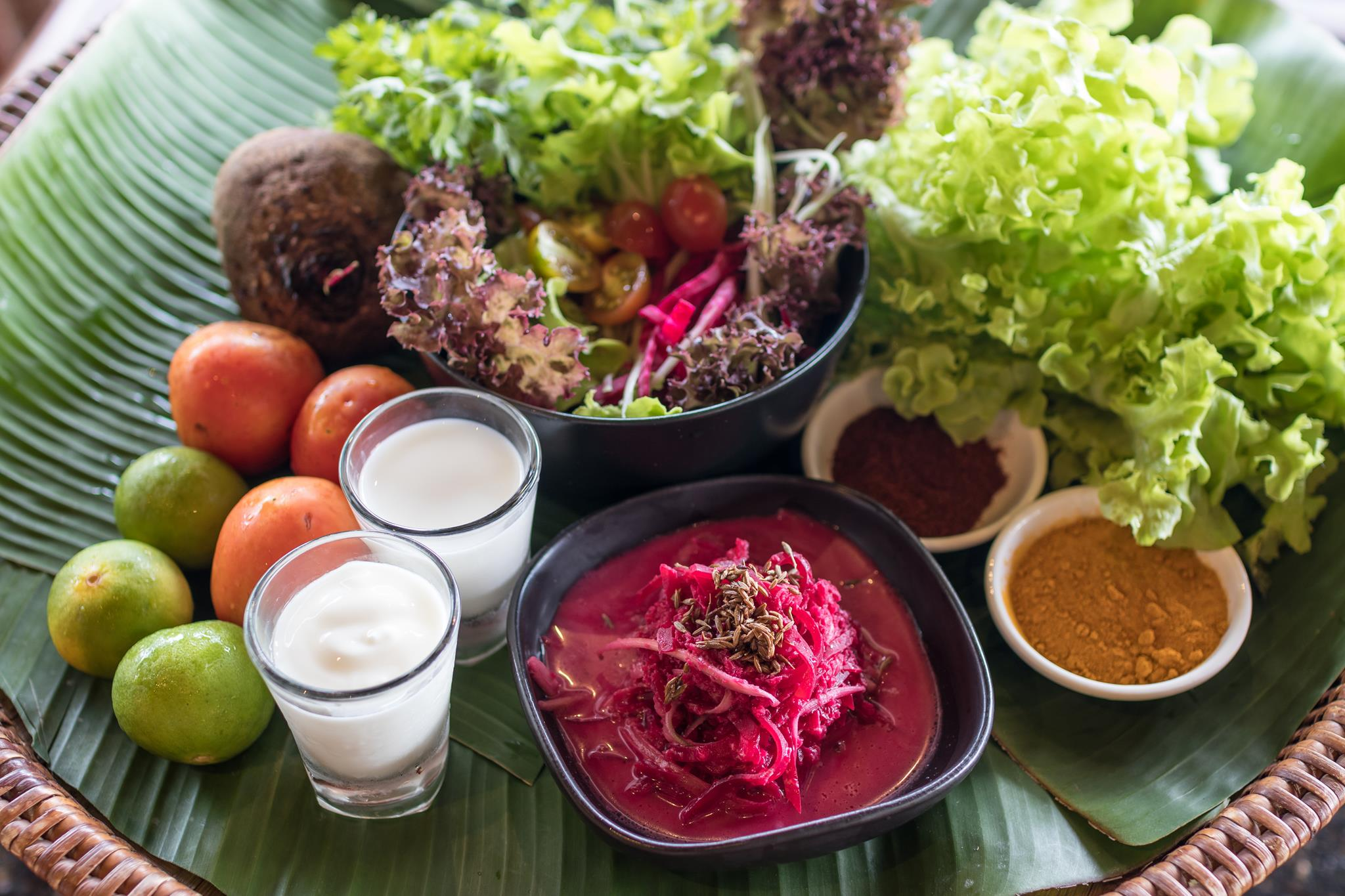 Fresh Summer Vegetable Salad made by Mangosteen Ayurveda & Wellness Resort, Rawai - Phuket!