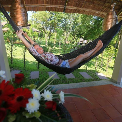 Hammock on private terrace at the Mangosteen Ayurveda & Wellness Resort, Rawai - Phuket