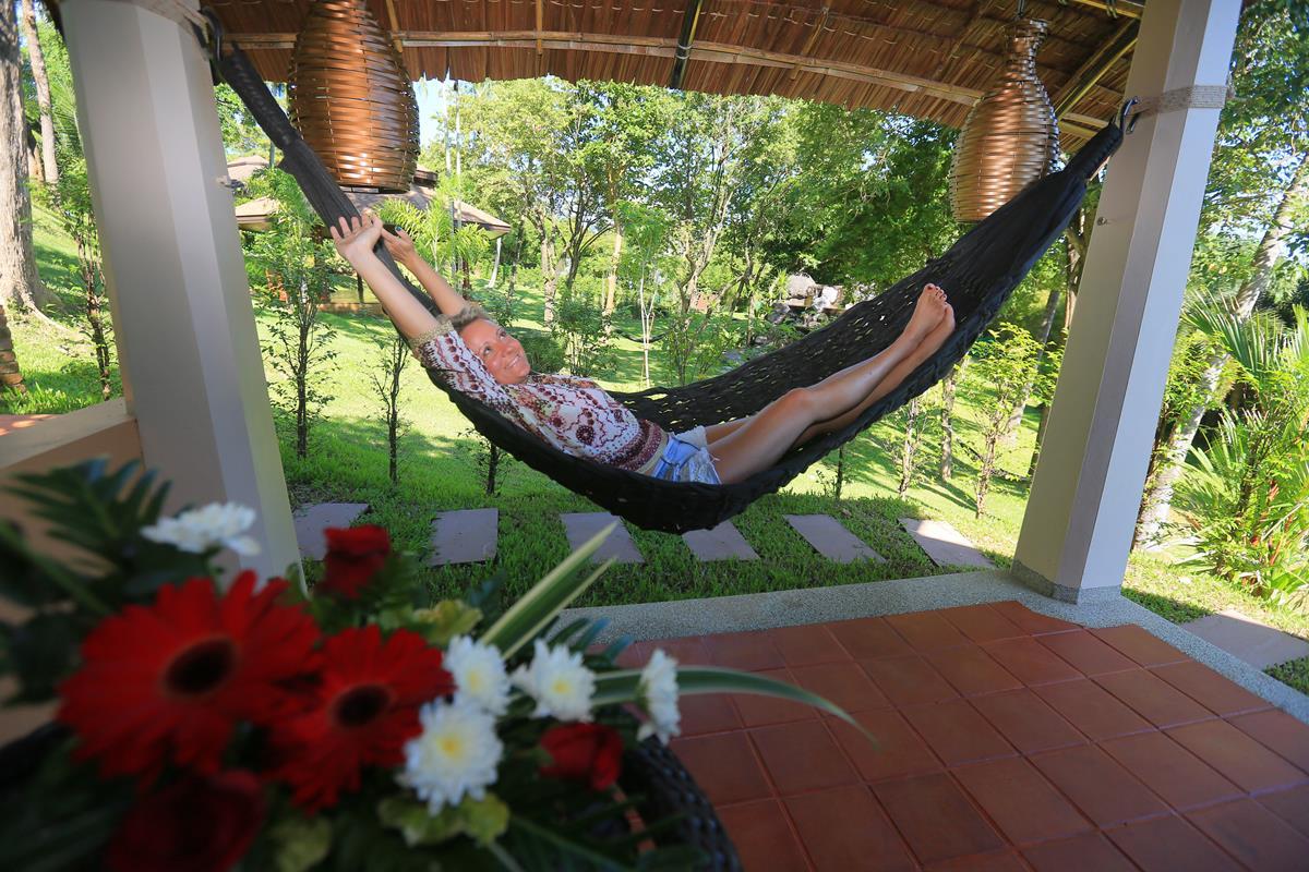 Hammock on private terrace at the Mangosteen Ayurveda & Wellness Resort, Rawai – Phuket